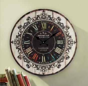 Grosse Jahrgang Holzwand Mdf Uhr Wanduhr Retro Holz Uhr Buy