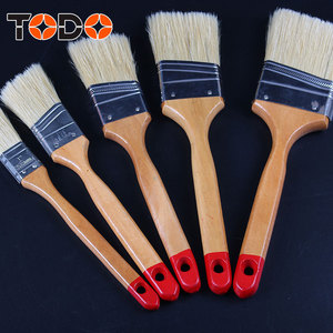 TODO brush long wooden handle flat paint brushes