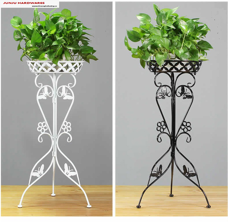 China floor plant flower pots of garden metal plant stand