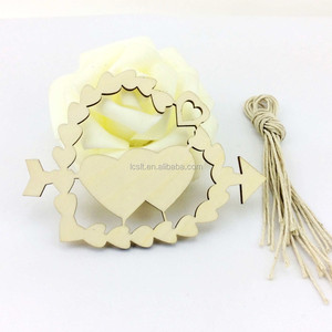 Small wooden laser cut christmas crafts wooden hanging arts