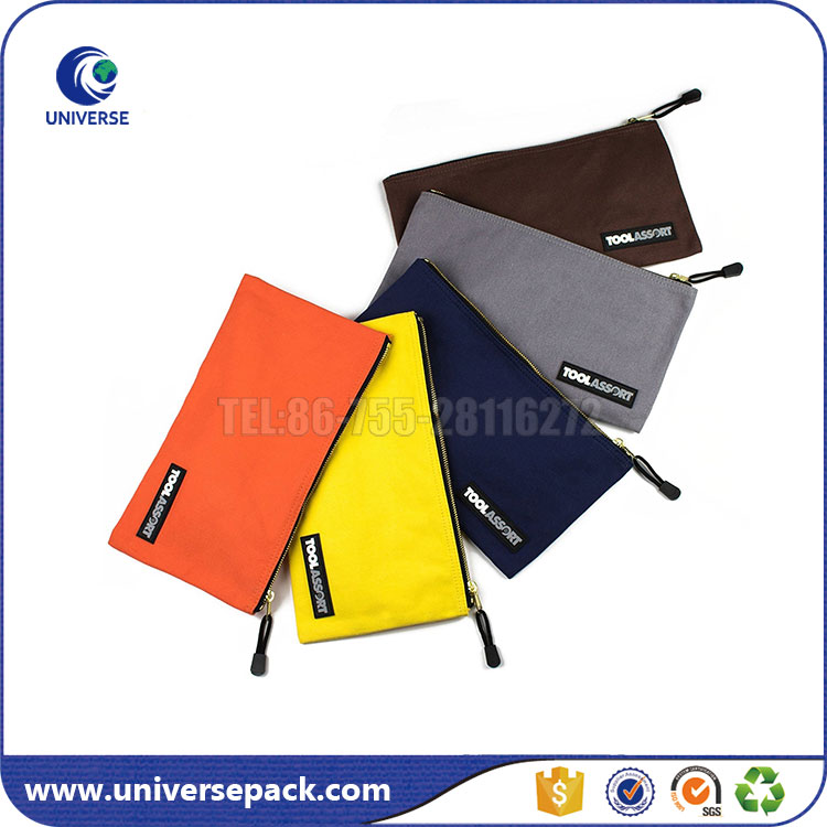 Heavy duty zipper canvas tool bags with private label