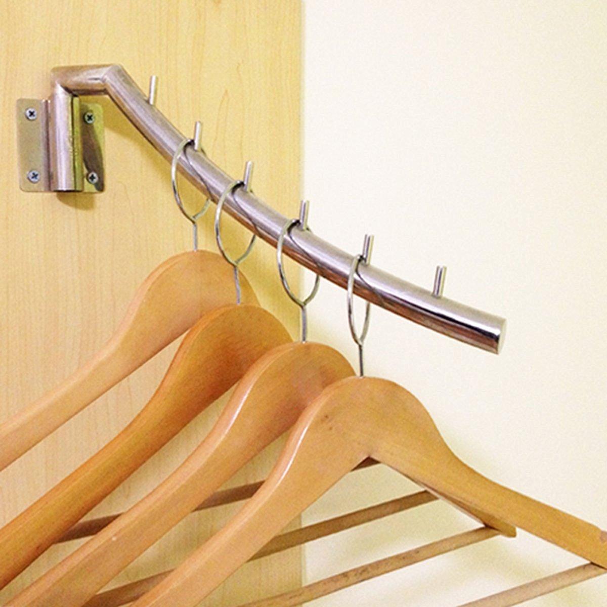 Swinging wall mounted clothing hanger