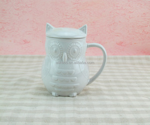 unique embossed Irregular space design design ceramic mug with a lid