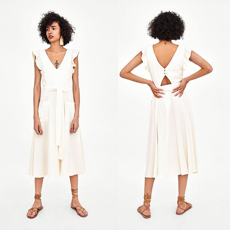 f408d6ebe6 Venta al por mayor vestidos mujer lino blanco-Compre online los ...