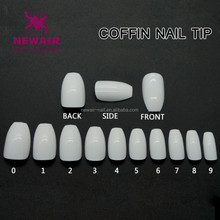 2017 Top nail shape coffin oval stiletto square finger nails tips beauty salon