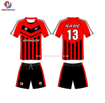 d07ae6439 Cheap Plain Latest Breathable Quick Dry Black And Red Soccer Jersey ...
