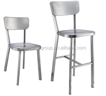 Charmant Hotel Metal Stacking Chair, Stainless Steel Bar Chairs MX 0756