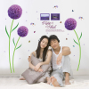 Purple dream flowers decorate pvc wall stickers The sitting room TV setting porch decorate wall stickers for sweet lover