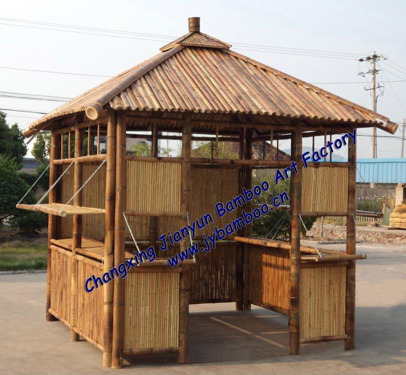 Bruin tuin bamboe tuinhuisje tuinhuisjes product id for Jardiland pergola bois