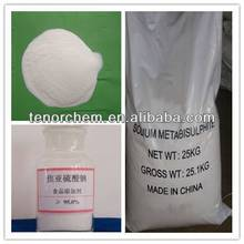 sodium metabisulfite powder for food additive