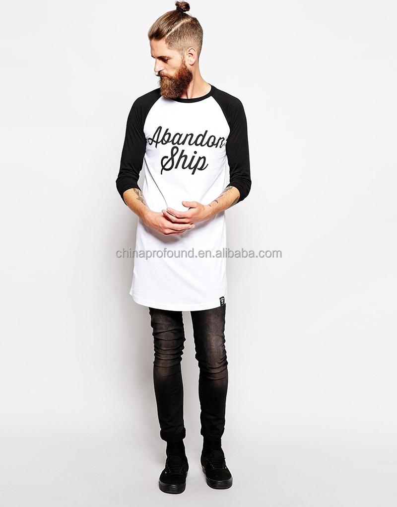 Long Line T Shirt Men Long Sleeve Long T Shirt Custom Printing ...