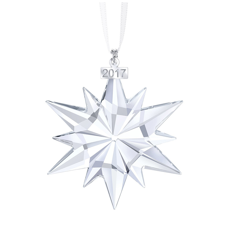 2017 New Bulk Personalized Annual Edition Crystal Star Shaped Snowflake Holiday Living Christmas Ornament