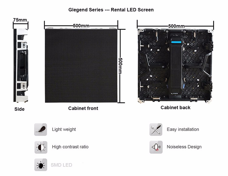 Glegend4 81 outdoor stage led display screen used live concert rental use,  View stage led screen for concert, GCL Product Details from Shenzhen Gcl