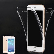 Mobile phone accessories factory in china full cover tpu case for iphone 7, for iphone 7 case 360, for iphone 7 transparent case