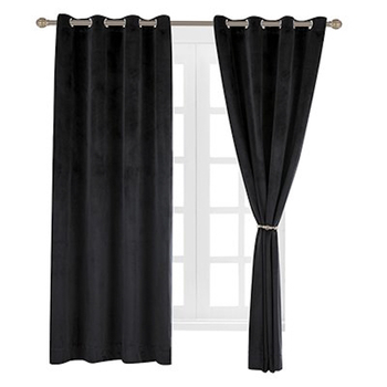 For Home Outdoor Black Velvet Soundproof Curtain, Wholesale Blackout Window Curtain/