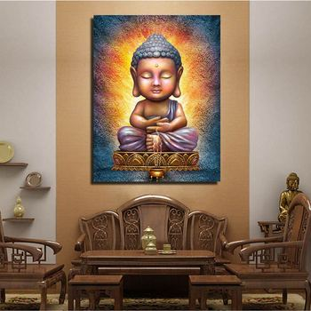 Buddha Wall Art Framed Painting Wall Picture For Living Room 1pcs Meditation Tableau Peinture Sur Toile Canvas Art Buy Buddha Wall Art Framed