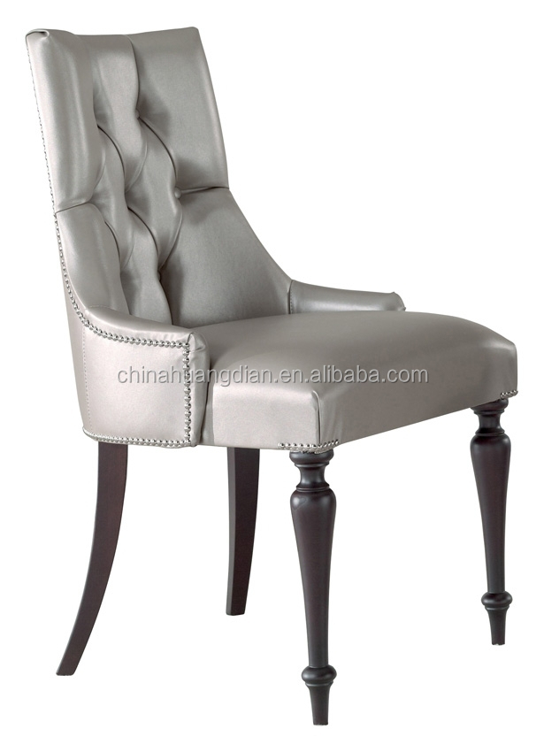 Urban Style Leather Dining Chair Silver Button Chairmodern Relax HDC1189