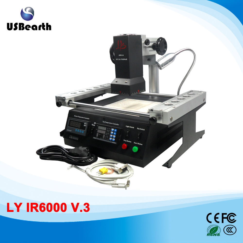 LY IR6000 v.3 BGA Rework station infrared welding machine with K-type thermocouple bettrer than IR6000V.1 and HR6000