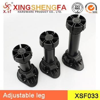 Adjustable Plastic Cabinet Leg Furniture Heavy Duty Table Feet