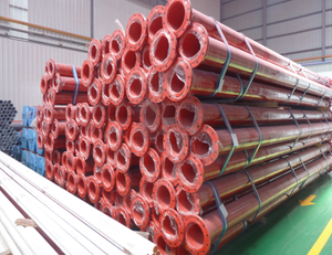 high quality round shape plastic coated seamless steel pipe