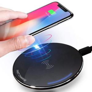 2018 Newest Aluminum Portable Qi Wireless Charger for iPhone8/iPhone X, A1 Wireless charger 5W pad