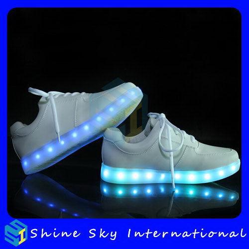 Schoenen met lichtjes in zool