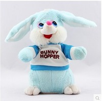 Electric music plush dog rabbit toys with a sound chip