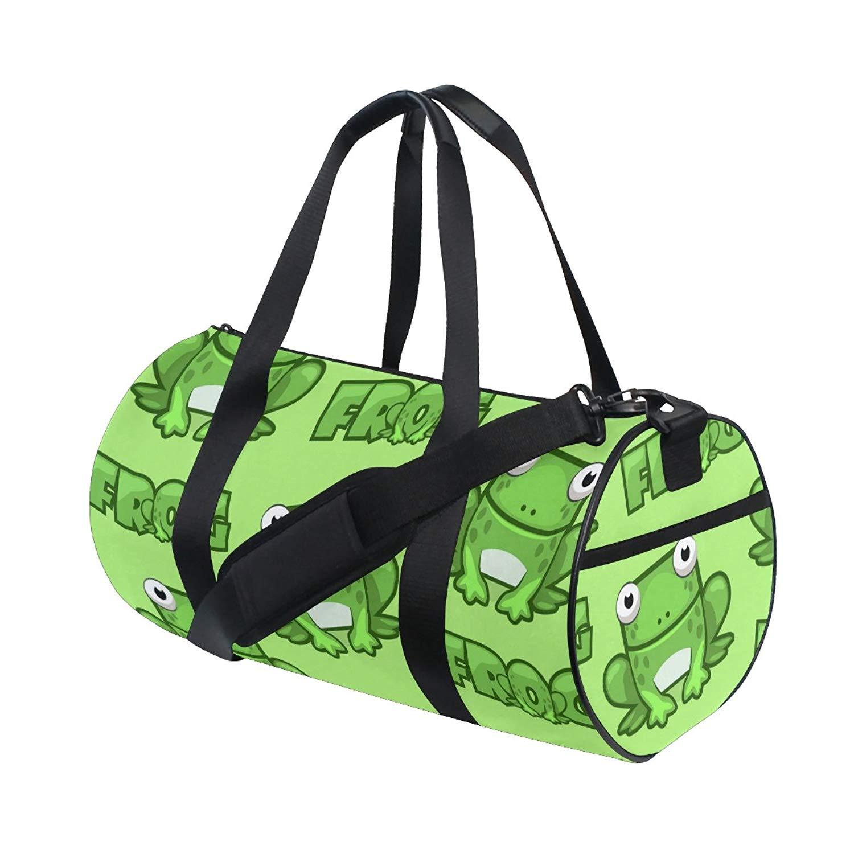 Unisex Travel Duffels Gym Bag Cute Cartoon Bird Canvas Weekender Bag Shoulder Bag Totes bags