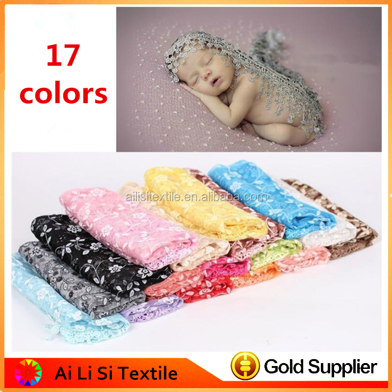 Fashion Design Newborn Baby Lace Fringe Triangle Wrap Cover Layering Blanket Photo Prop