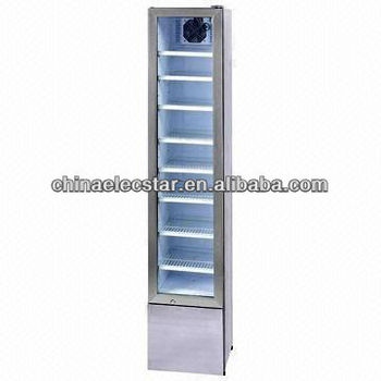 Retro slim glass door cooler beverage cooler upright for 1 door retro coke cooler