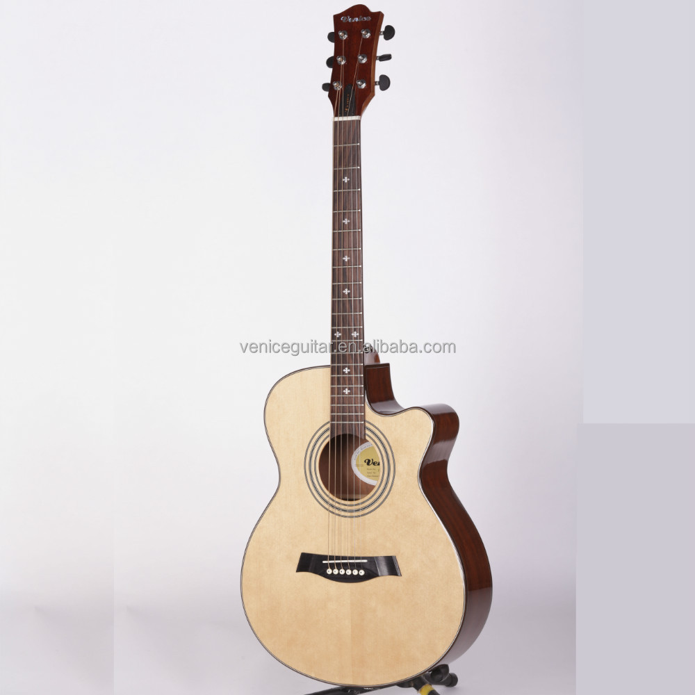 "Nato neck guitar 40""acoustic plywood PT-31 from Venice Musical Instrument Factory"