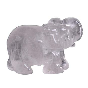 Natural Quartz Carved Elephant Crystal Home Decor Clear Crystal Carving Crafts