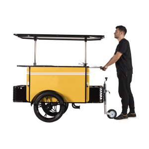 china manufacture hand push bike mobile food cart trailer with wheels