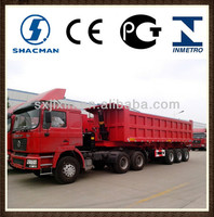 shacman 6x4 tow truck with dump trailer