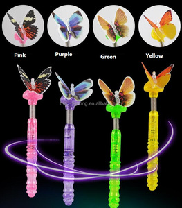 led optical fiber butterfly wand