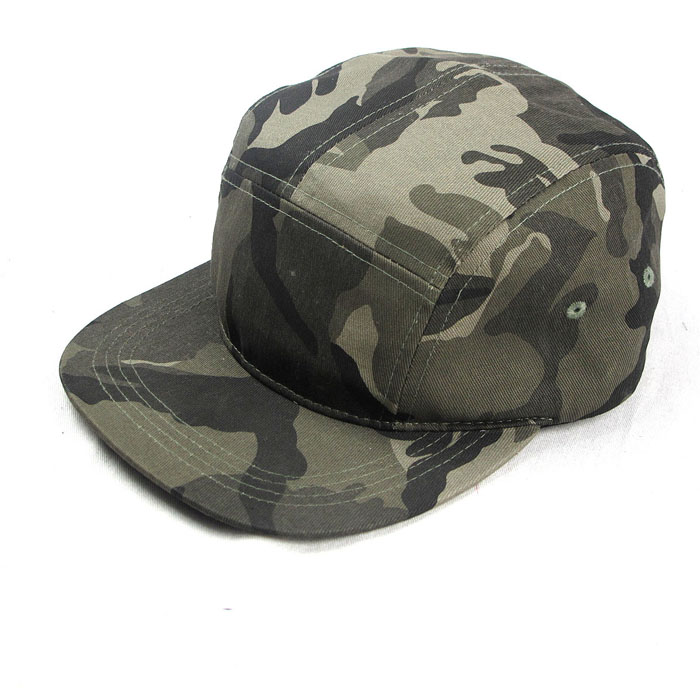 Fashion blank 5 panel camp cap camo snapback hats