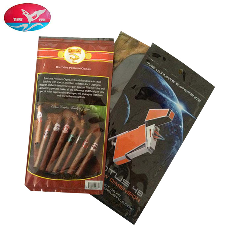 Hot sale Cigar Tobacco Ziplock Humidor pouch Bags Four Pieces Cigar Bags for Packaging