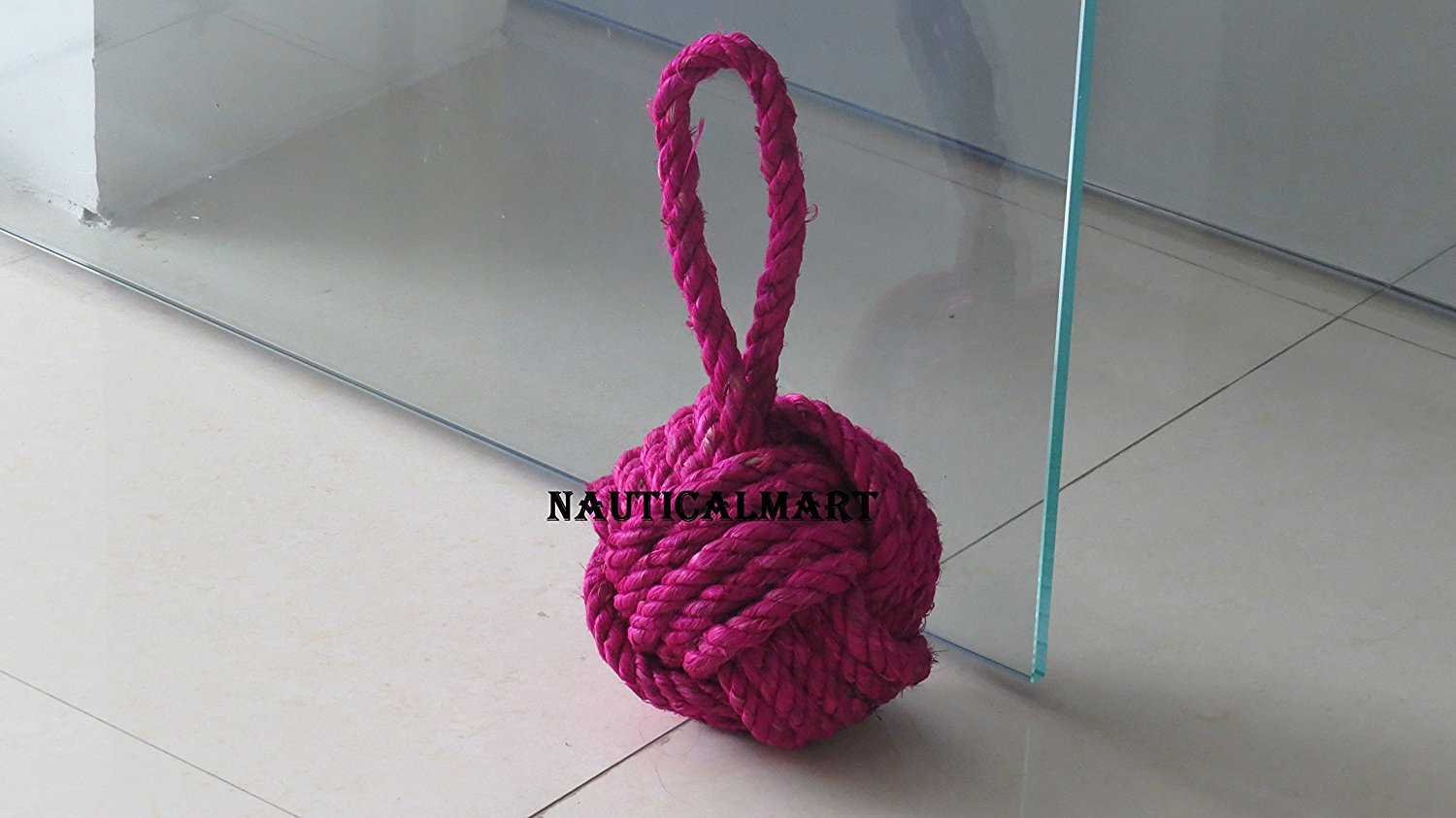 Jute 3.3 lbs Twos Company Marseille Knot Door Stopper