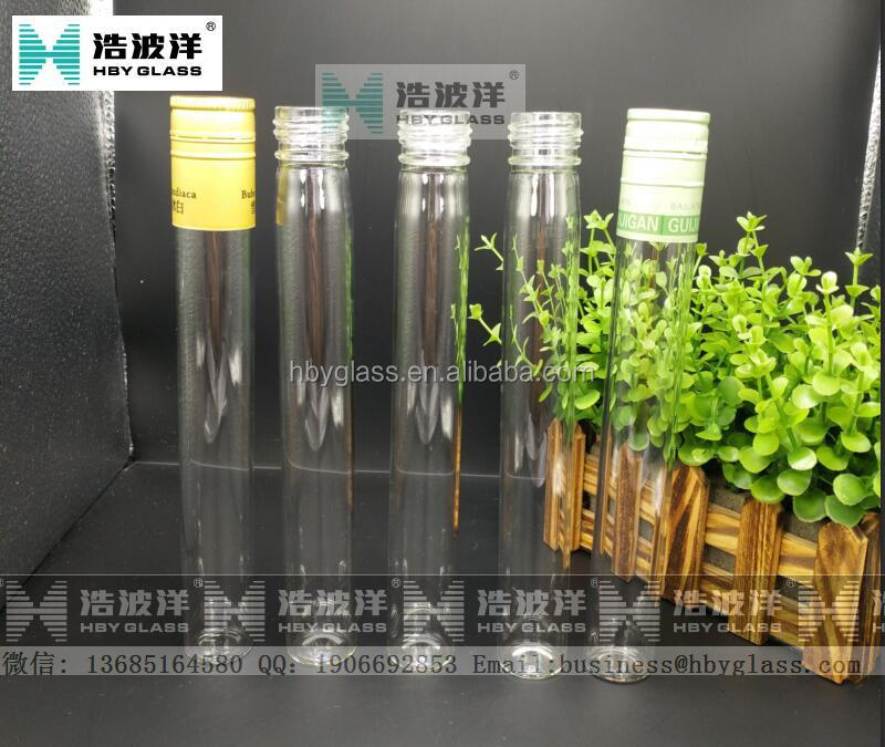 Pyrex Glass Tube Whisky Bottles Glass Test Tubes With