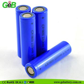 Rechargeable Li Ion Battery 18650 3.7v 2200mah Li-ion Battery 3.7v ...