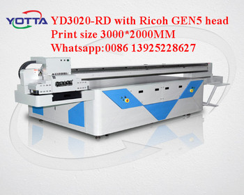 3020 large format high speed UV printer printing glass machinery with gen5 head