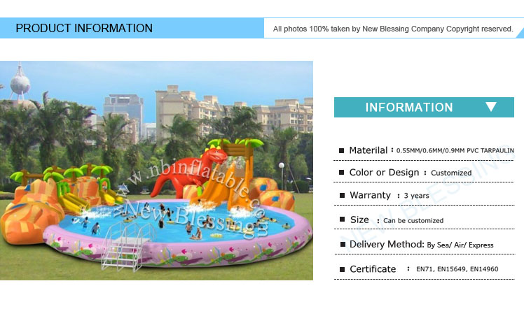 Popular air mini lawn amusement PVC land inflatable water park
