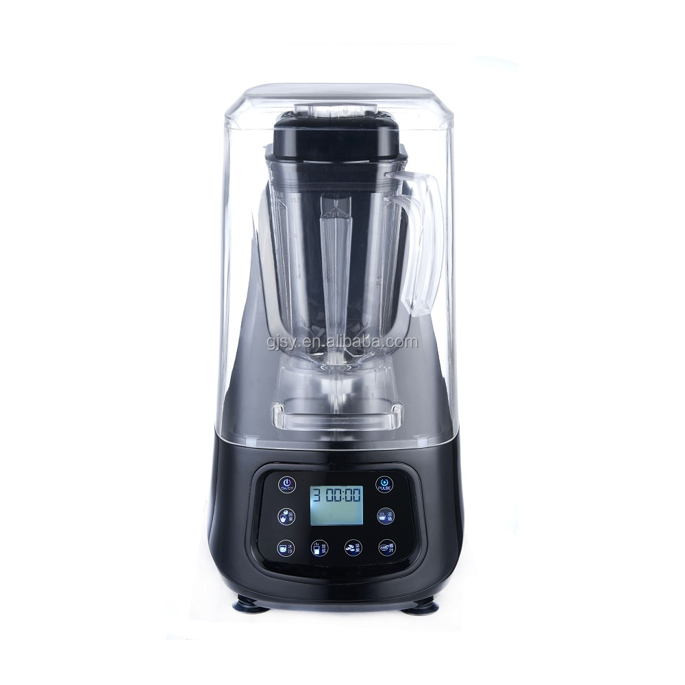 As see tv 6 in 1 high performance 2200W 32000rpm low noise sound-proof enclosure cover frappe smoothie juicer heavy duty blender