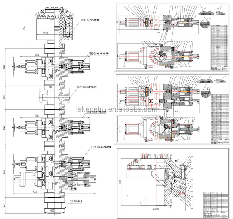 high quality api 16a blowout preventer,cameron double ram ... blow out diagram