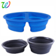 silicone collapsible custom dog bowl with plastic handle