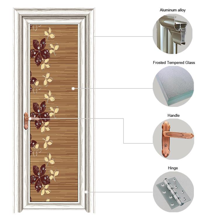 Flower Aluminium Bathroom Door Designs Pani Bathroom Design Idea