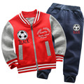 Children s Sets 2016 New Boy s Two piece Cotton Jacket and Pants