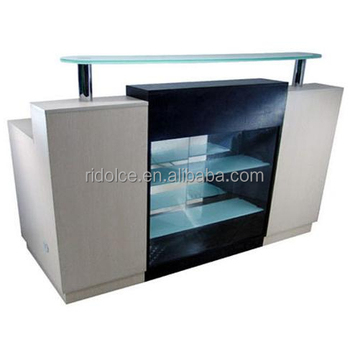 Nail Salon Reception Desk Solid Wood Office Table Design Receptionist F 2733