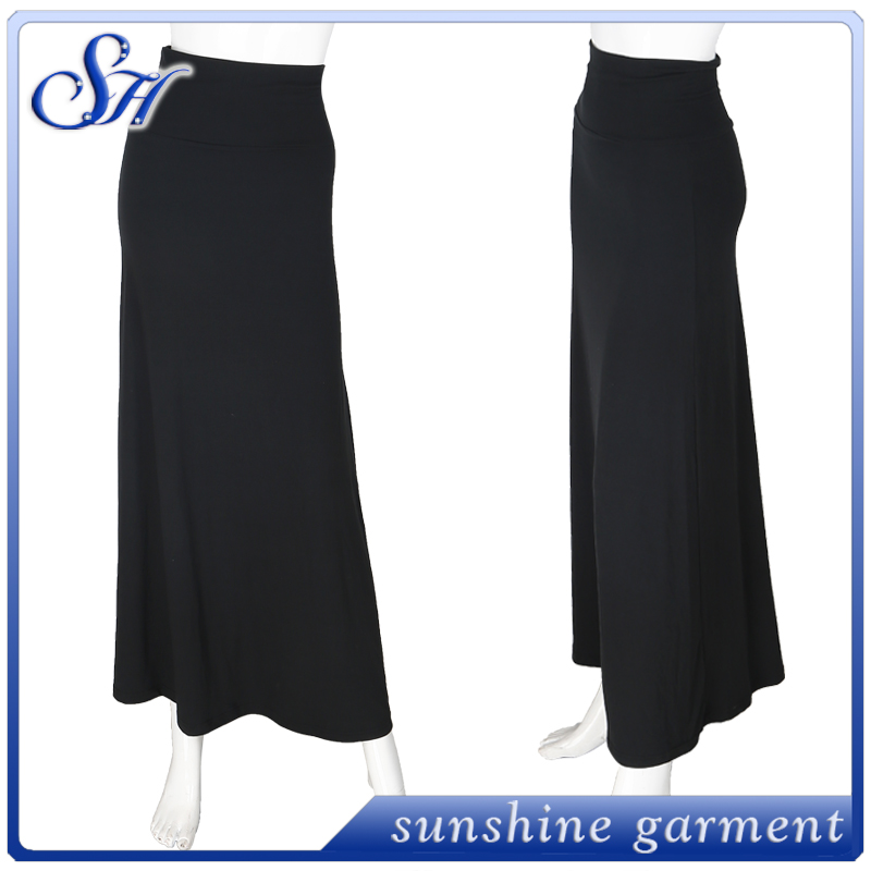 Wholesale simple fashionable dress cheap price lady long skirts