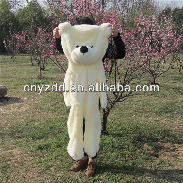 hot selling unstuffed teddy bear/teddy bear skin/customized unstuffed plush animals